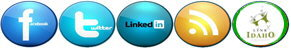 Idaho Wireless Broadband Internet Social Media Icon Links FaceBook Twitter LinkedIn RSS LinkIdaho